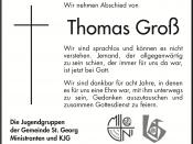 Todesanzeige Jugendgruppen - Thomas Groß